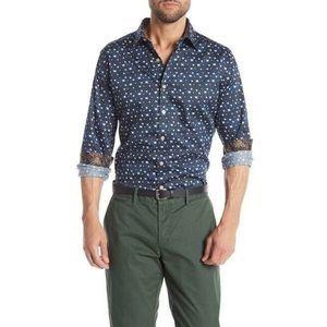 Robert Graham Tesoro Navy Button Down Shirt Casual